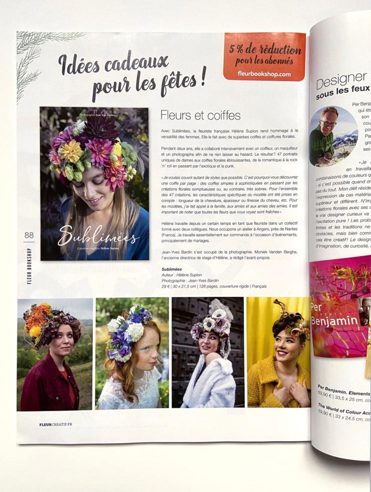 fleur créatif, livre Sublimées, Jean-Yves Bardin photographe, création végétale