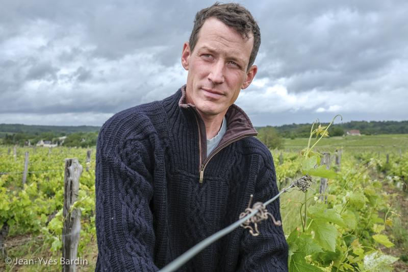 Aurélien Revillot, Bourgueil, gueules de vignerons, vigneron bio, organic wine, Jean-Yves bardin photographe Gueules de vignerons, portraits de vignerons, Vignerons de Loire, vins de Bourgueil, Vigneron Bourgueil